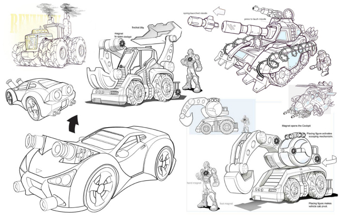 Concepts and sketchs by AGO design group at Coroflot.com