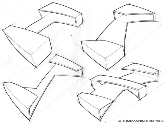 Sketch Work by Tom Mannington at Coroflot.com