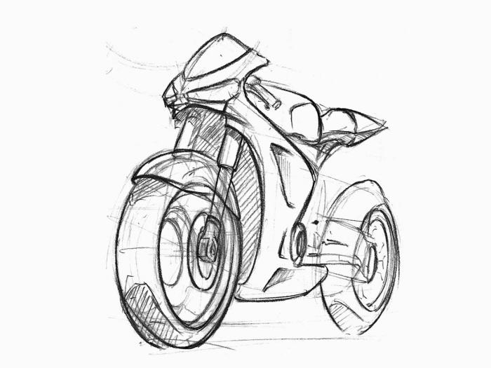 motorcycle sketches by Sen Heng at Coroflot.com
