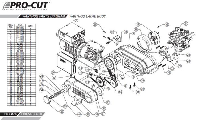 Pro-Cut Warthog On-Car Brake Lathe by Dan Bloom at