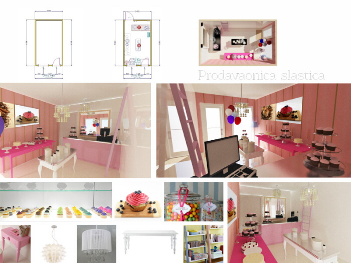 Interior Design Of Cupcake And Cake Shop By Valentina Vicevic At