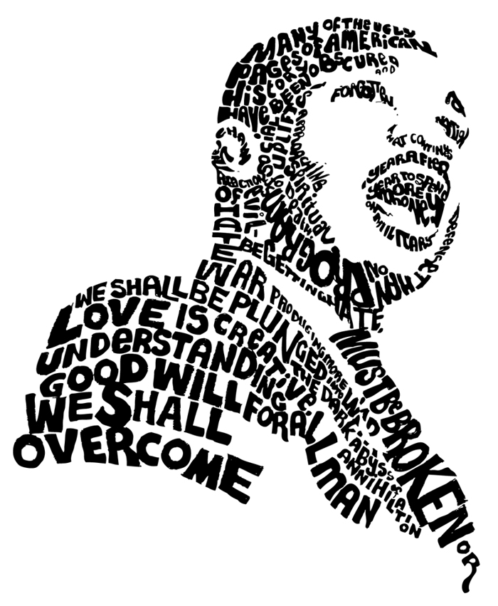 Dr Martin Luther King Silhouette