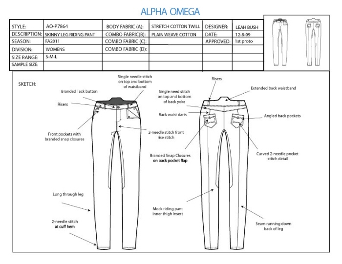 Tech Sketch Skinny Pants 1 by Leah Bush at Coroflot.com