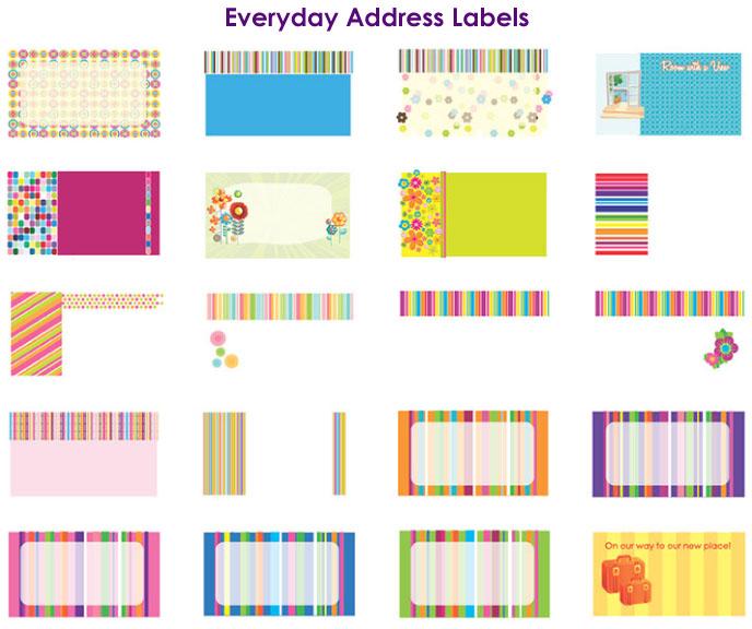 return address label designs