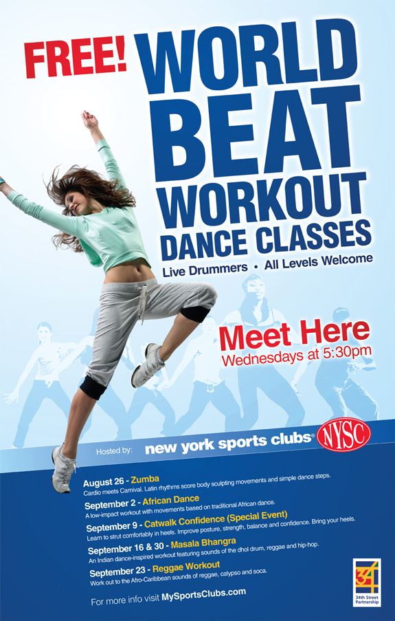 NYSC World Beat Workout Poster By Mark Olesak At Coroflot Com