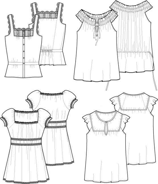 Flat Sketches by Milena Martinez at Coroflot.com