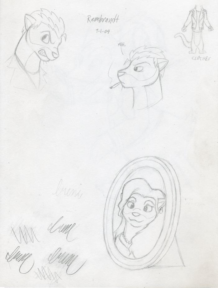 Original characters 2: Ink Incarnate by Ian and Tavish