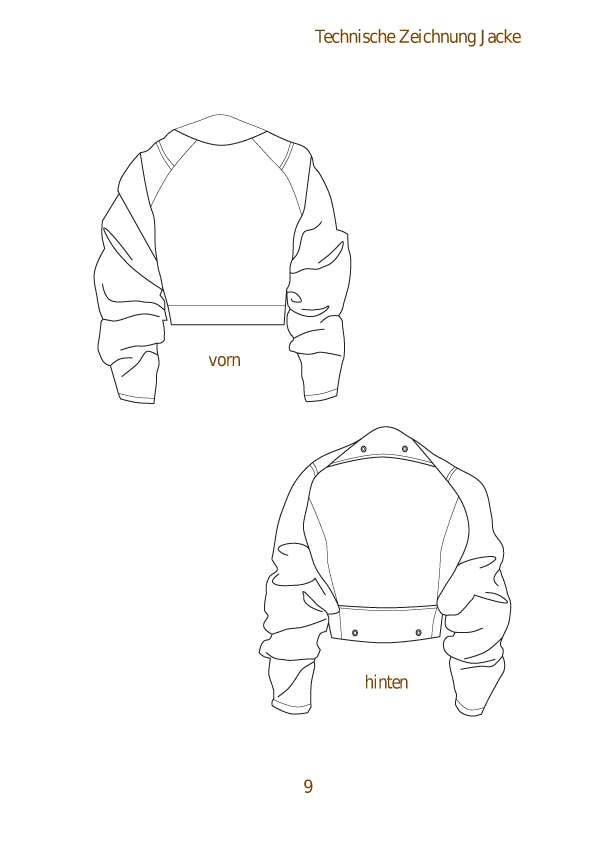 technical drawing jacket