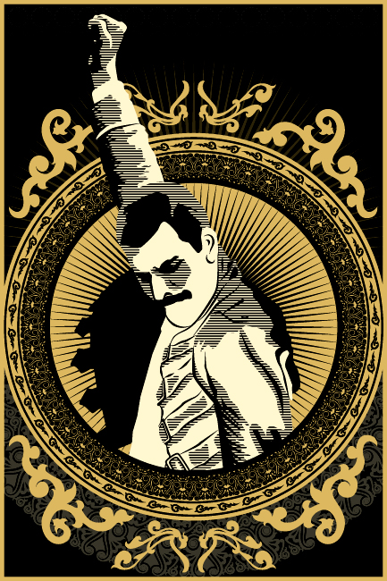 Freddie Mercury Iphone Wallpaper Digital Art By Troy Mueller At Coroflot Com
