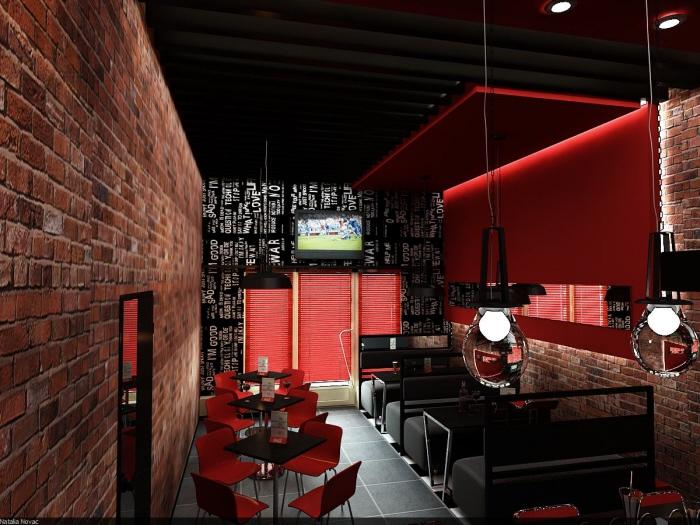 curtains for my living room small kitchen diner ideas cafe-bar interior design by novac natalia at coroflot.com