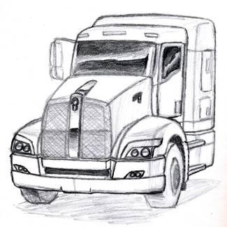 Truck sketches by Jafet Marquez at Coroflot.com