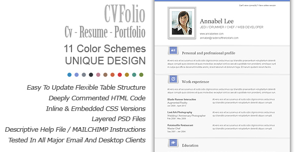 6 second resume template