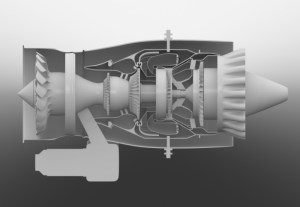 PW615 VLJ Jet Engine  3D diagram by Charles Floyd at