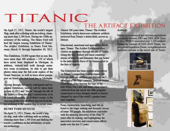 Titanic Brochure by Carlos Varo at Coroflotcom