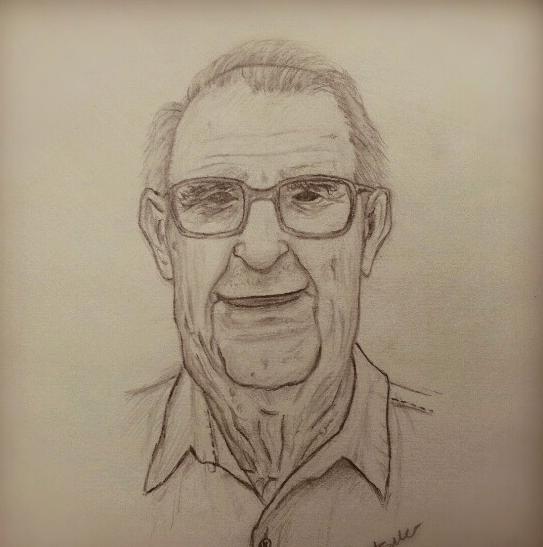 Old man  pencil drawing by Mr Jbarat at Coroflotcom