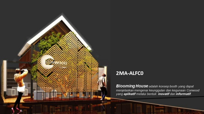 BLOOMING HOUSE  Booth Conwood Design Competition 2015 by