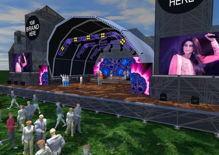 An Outdoor Music Festival Stage Design by Ryan Dunbar at