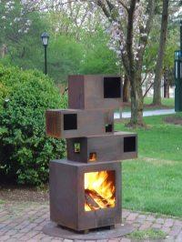 Steel Outdoor Fireplace | www.imgarcade.com - Online Image ...