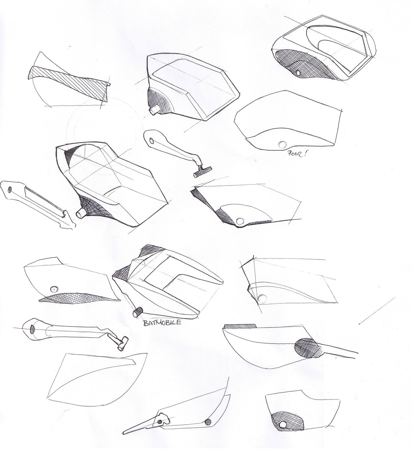 sketches and development for chair by Bartholomew 'Craig