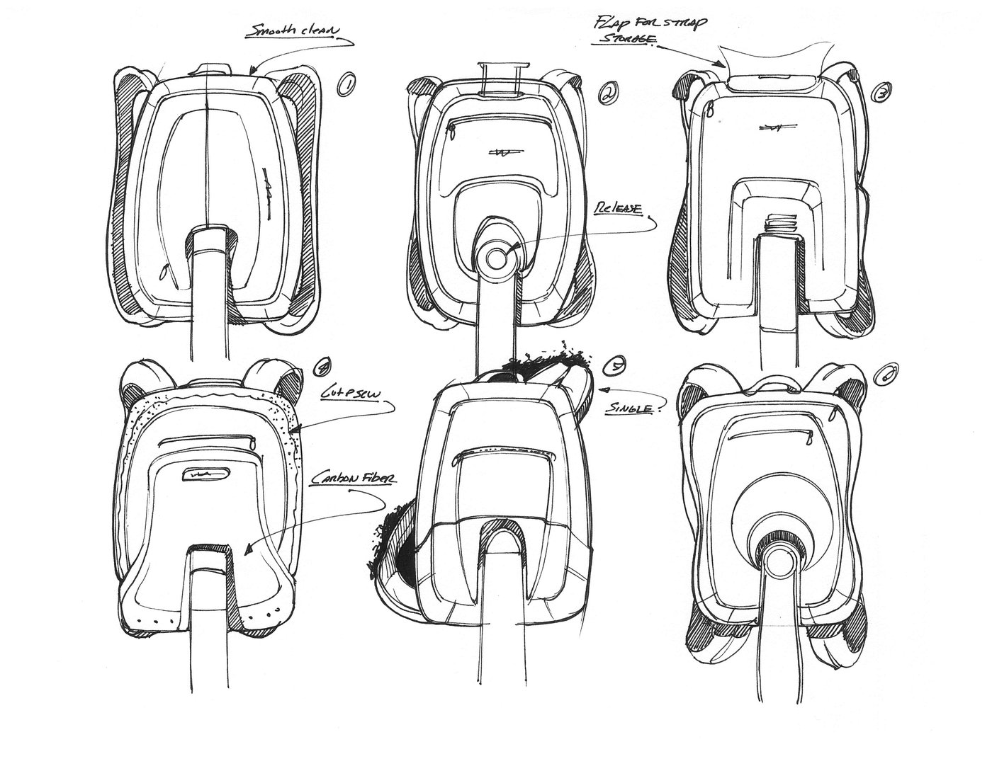 Chair design concept Sketches by Jon Osborne IDSA at