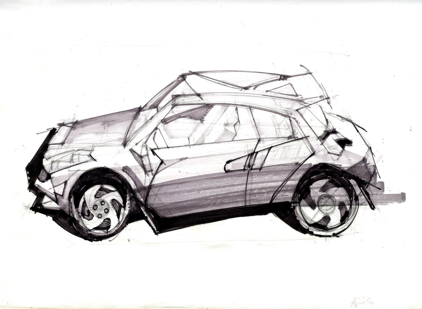 Product and Automotive Drawing by Sean Gordon at Coroflot.com