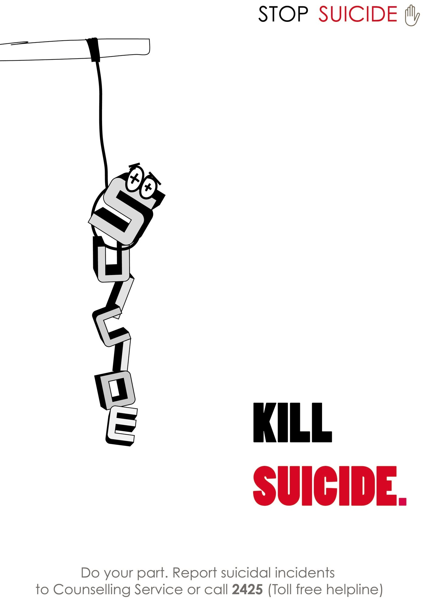 Anti Suicide Poster Design by Rahul Mittra at Coroflot.com