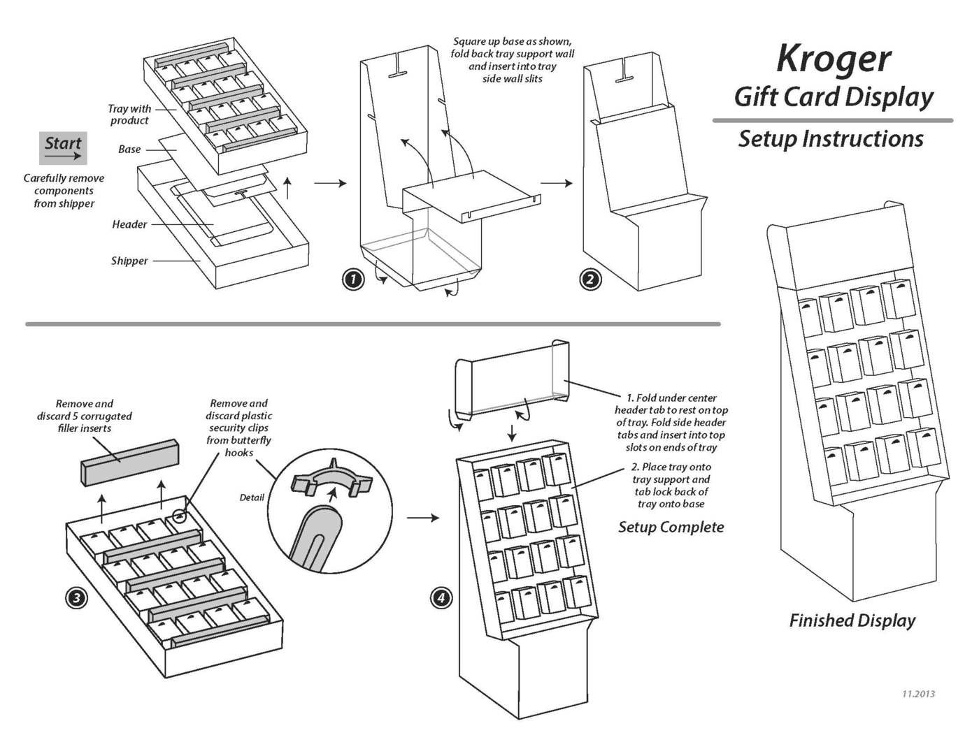 POP Display Retail Instruction Sheets by Steve Rowe at