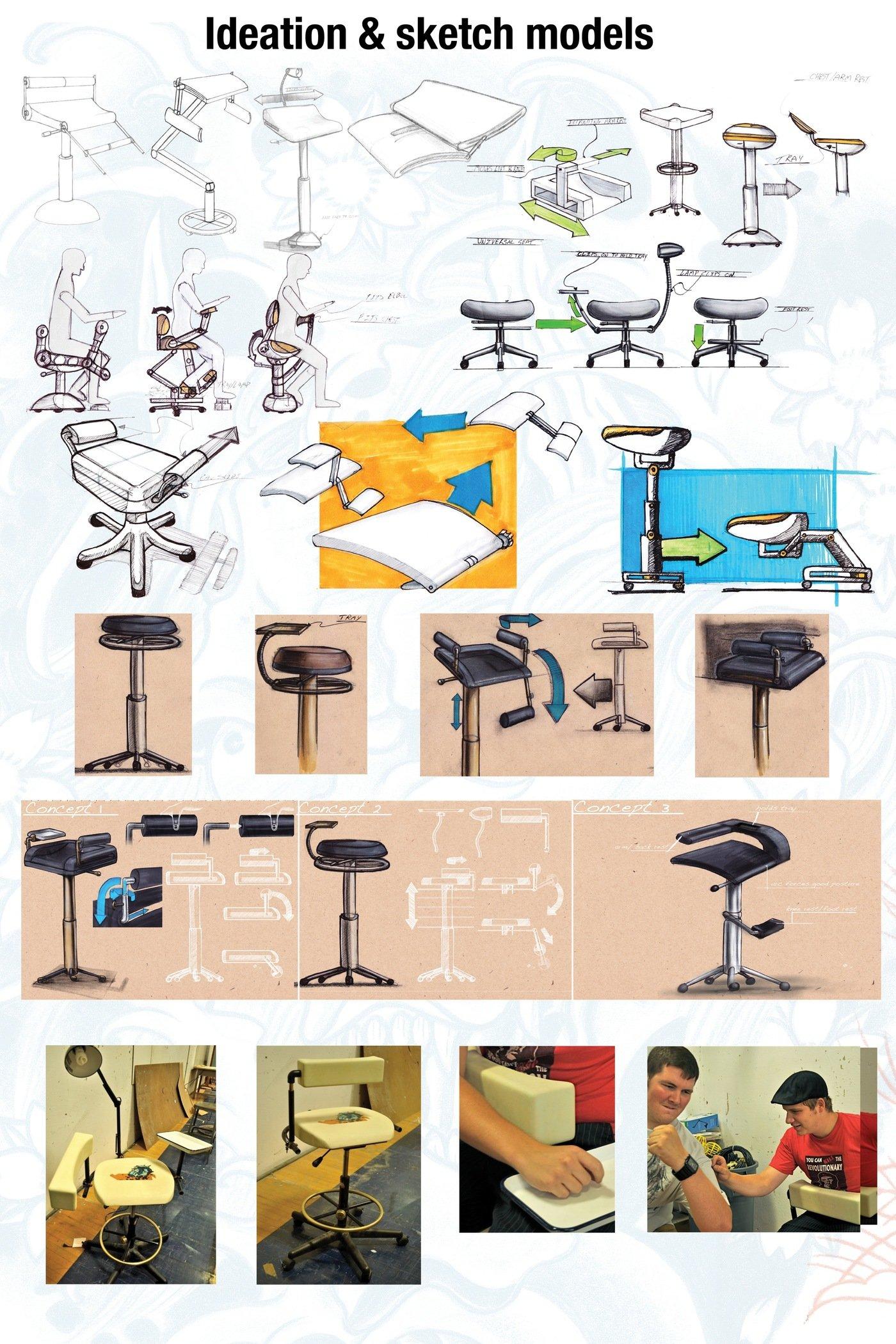 tattoo artist chair fisher price laugh learn ergonomic by jason burnell at coroflot