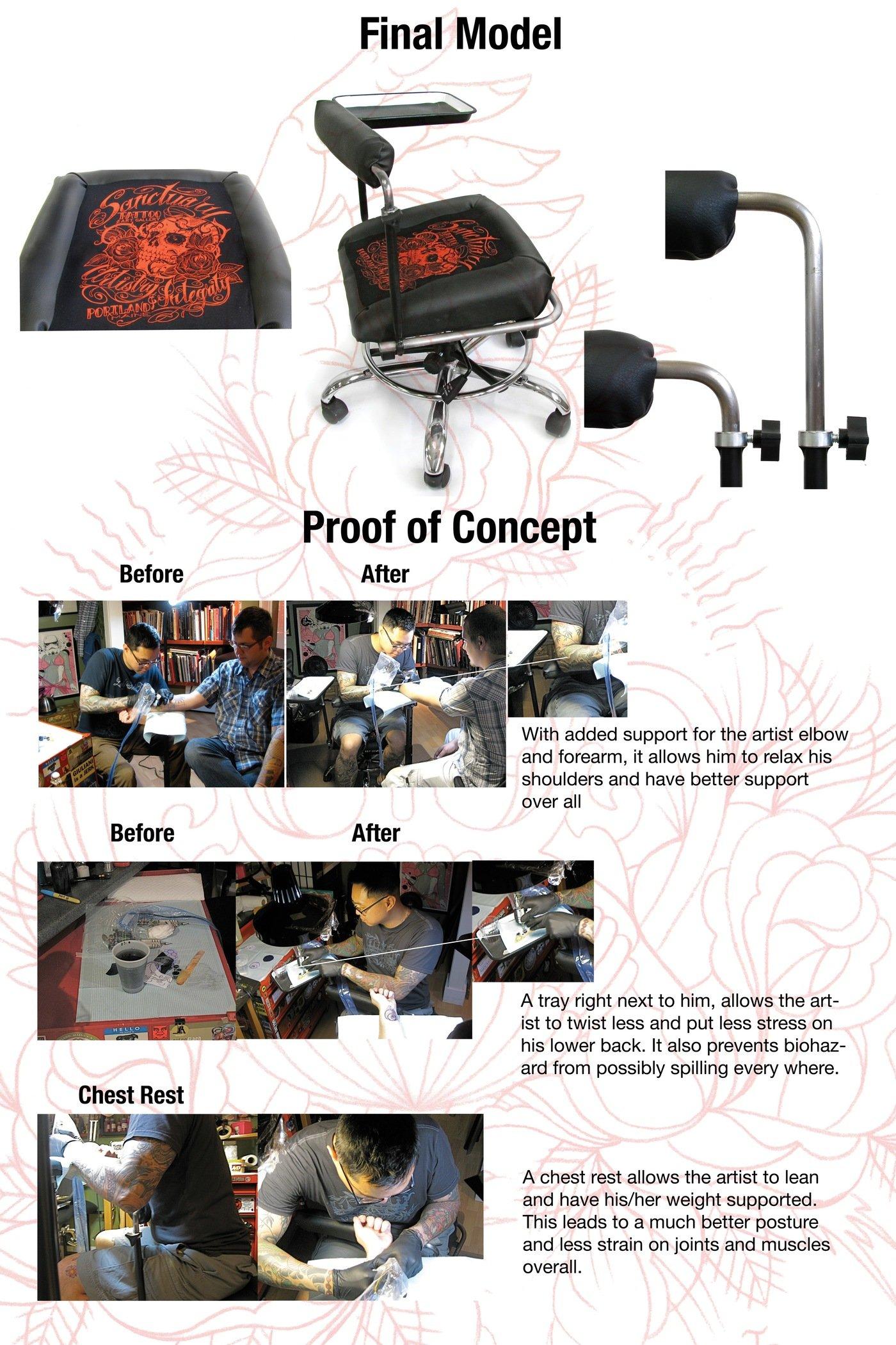 tattoo artist chair rv furniture captains chairs ergonomic by jason burnell at coroflot