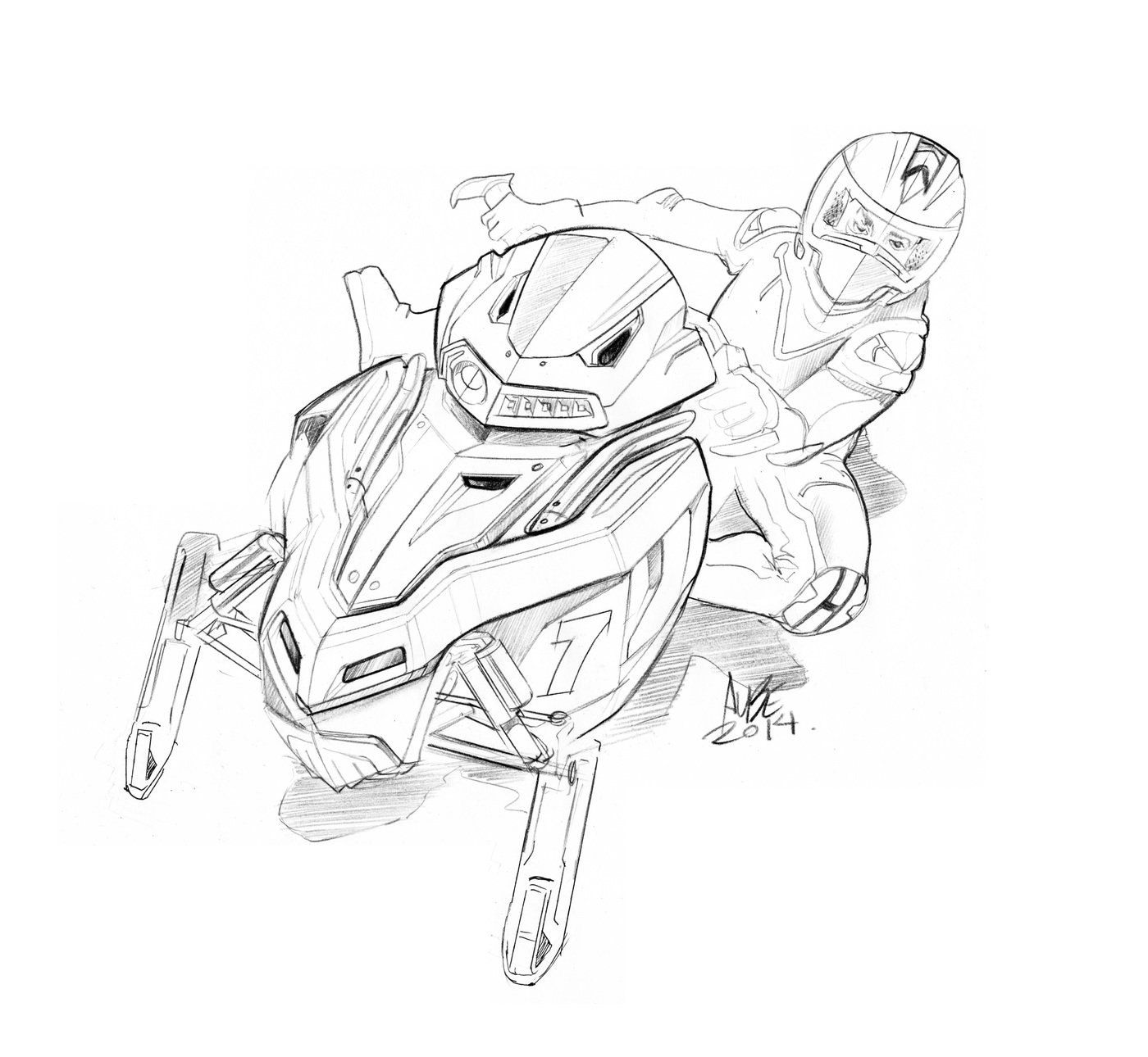 Arctic Cat Snow Machine Coloring Page Coloring Pages