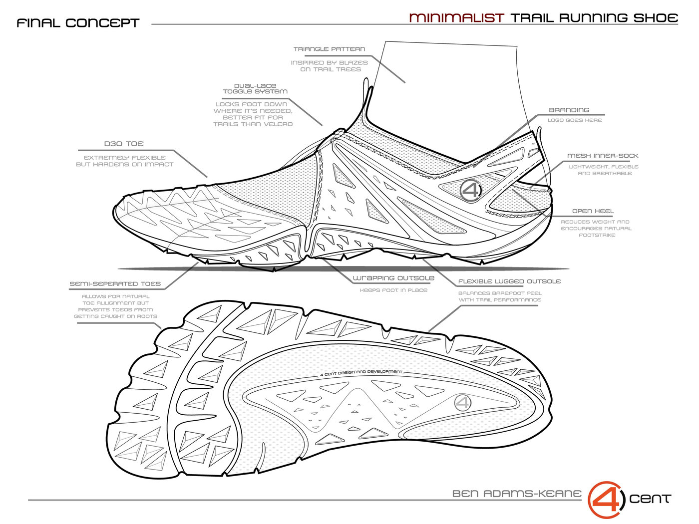 Minimalist Trail Running Shoe by Ben Adams-Keane at