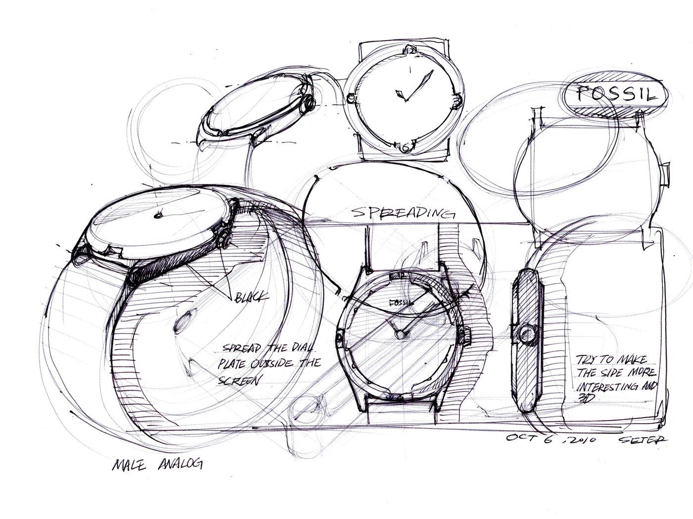 Watch Industrial Design Sketch Sketch Coloring Page