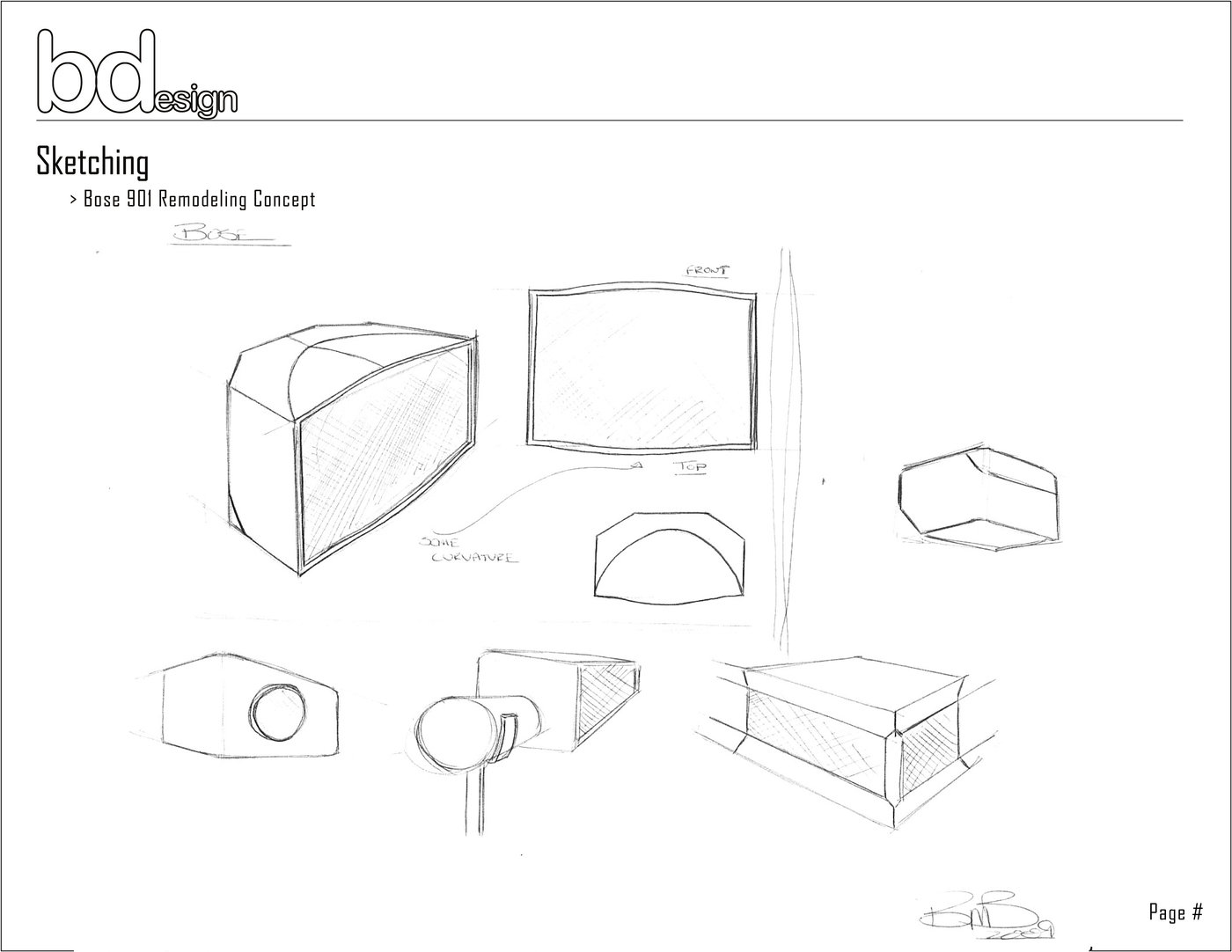 Bose 901 Concept Project by Brandon Brackett at Coroflot.com