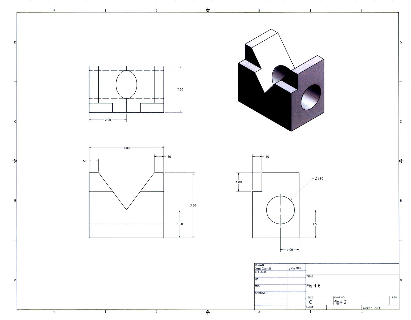 Mechanical Drawings done in Inventor by Jem Carroll at