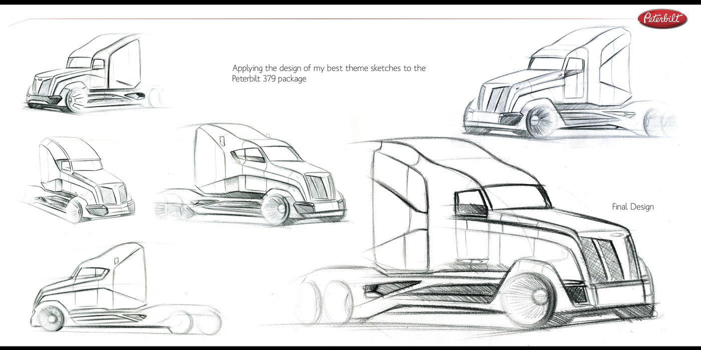 Peterbilt Truck Project by Kevin Vanderhorst at Coroflot.com