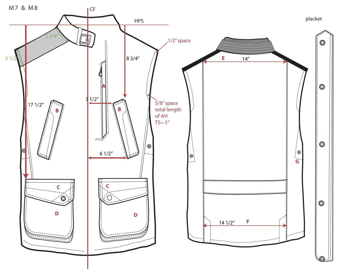 Men's Jacket Tech Pack by Jacqueline Cotter at Coroflot.com