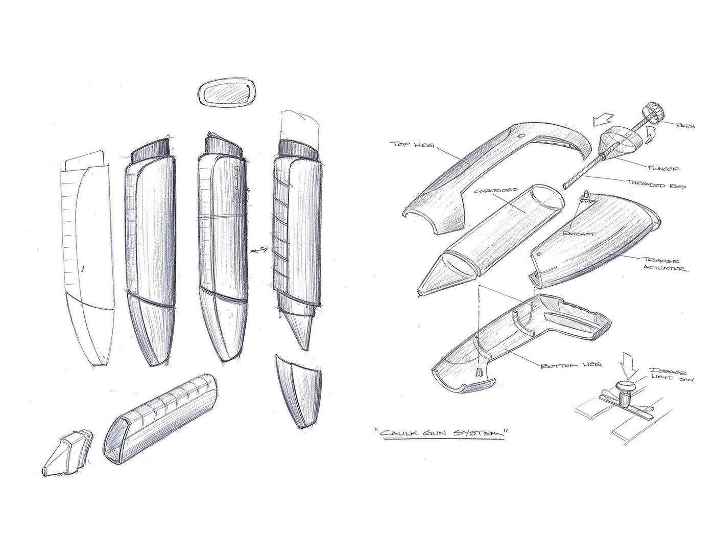Sketches by Richard Costa at Coroflot.com