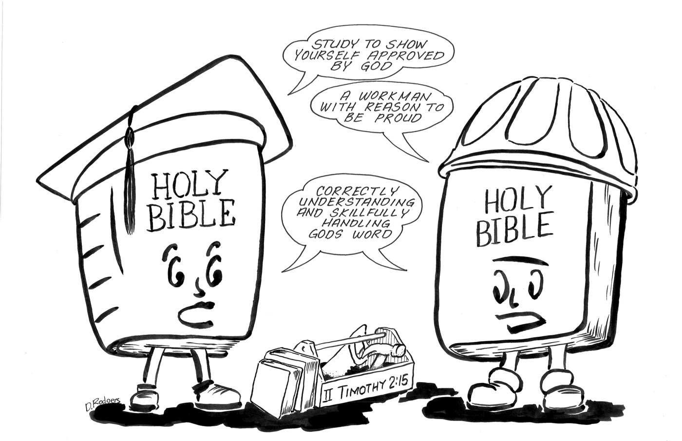 Sunday School Lesson Illustrations by Donald Rodgers at