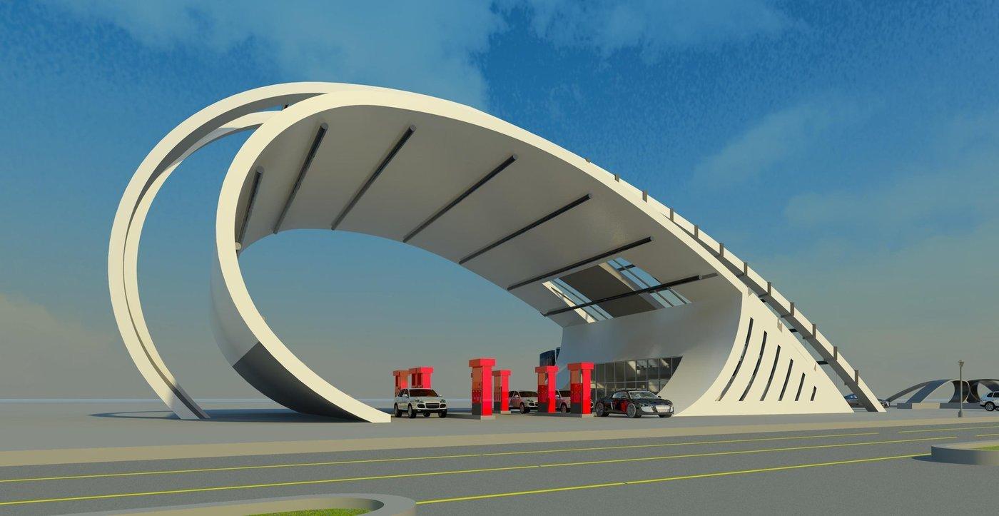 Modern Gas Station By Movses Dzhansyan At