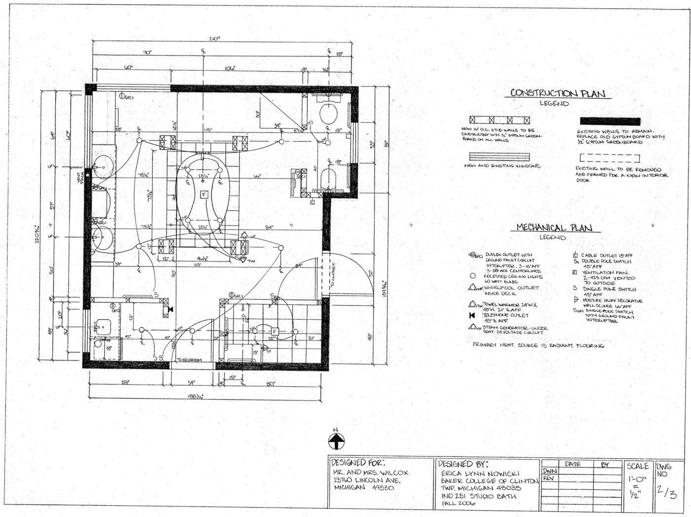 Bathroom Design by Erica (Nowicki) Snyder, LEED Green