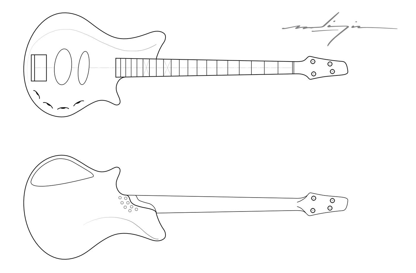 Bass Guitar Drawing : Choose your favorite bass guitar