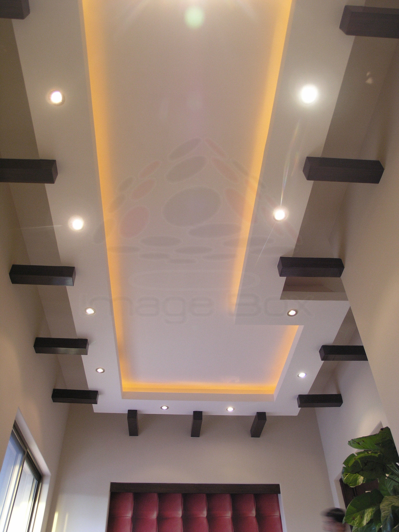 Masood Majeed Khan House By Image Box At Coroflot Com   Ceiling Design For Stairs Area   Wall Light   Reception   Internal Staircase Wall   Interior   Show Room