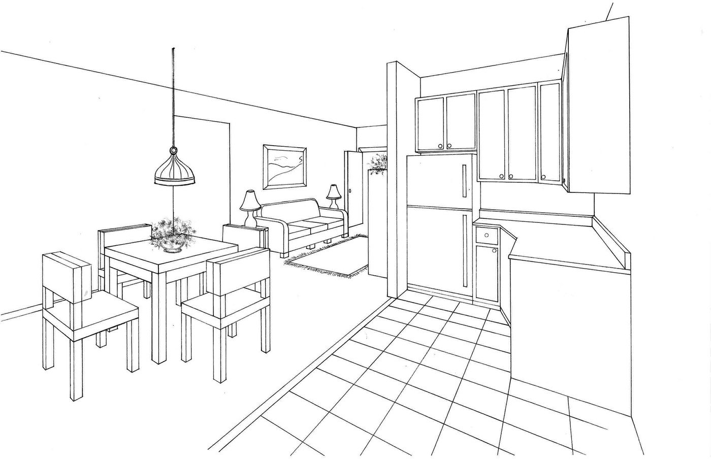 Floor and Elevation Renderings by Laurie Davis at Coroflot.com
