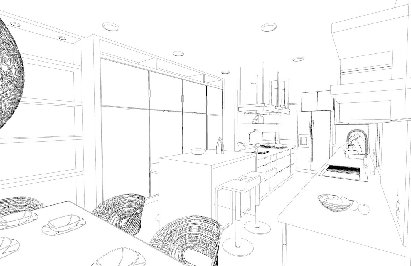 Kitchen Design by Leticia Velasco at Coroflot.com