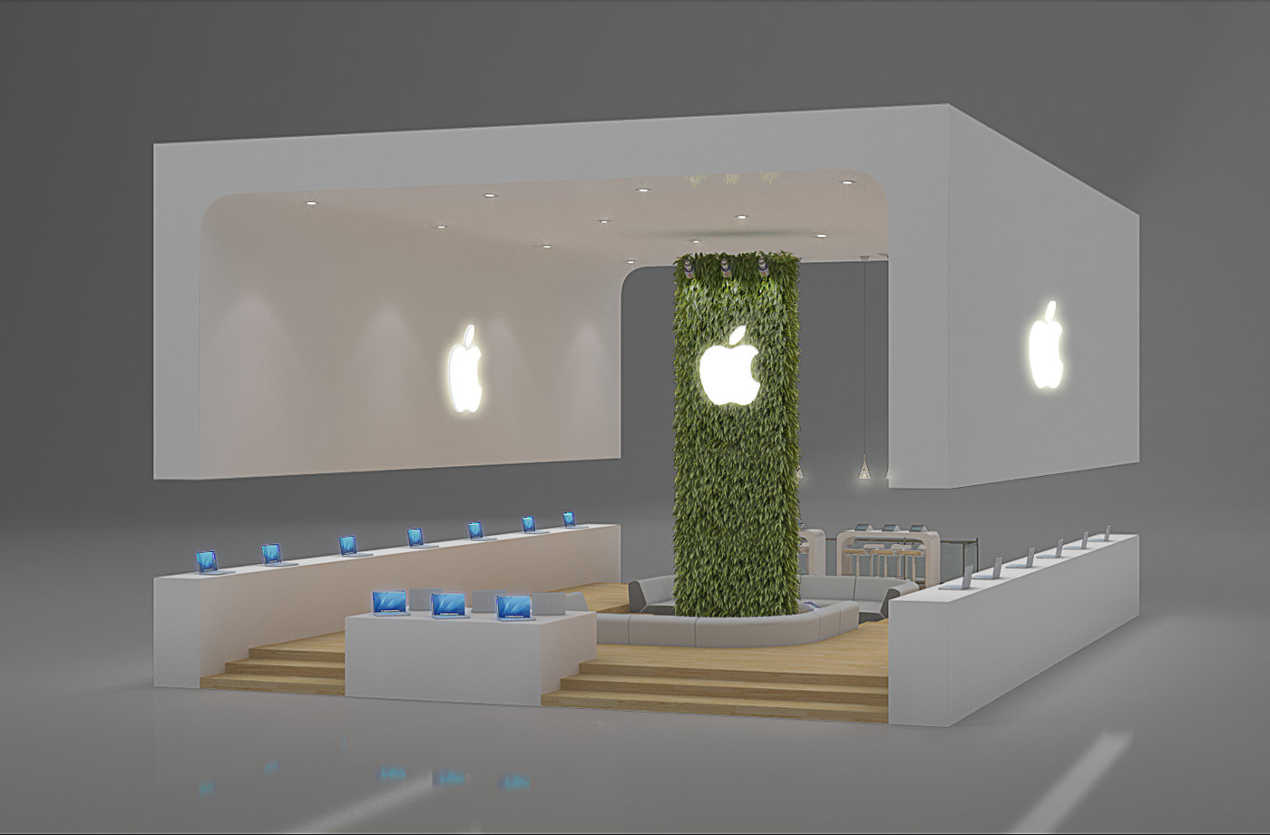 Exhibition Design Apple By Leticia Velasco At