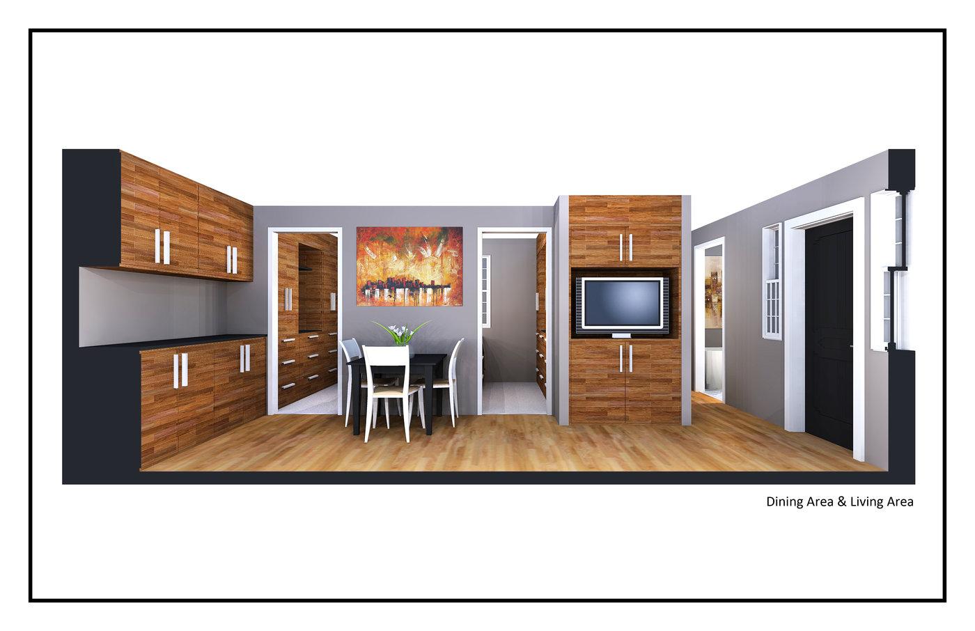 400 Square Foot House by Jordan Parke at Coroflotcom