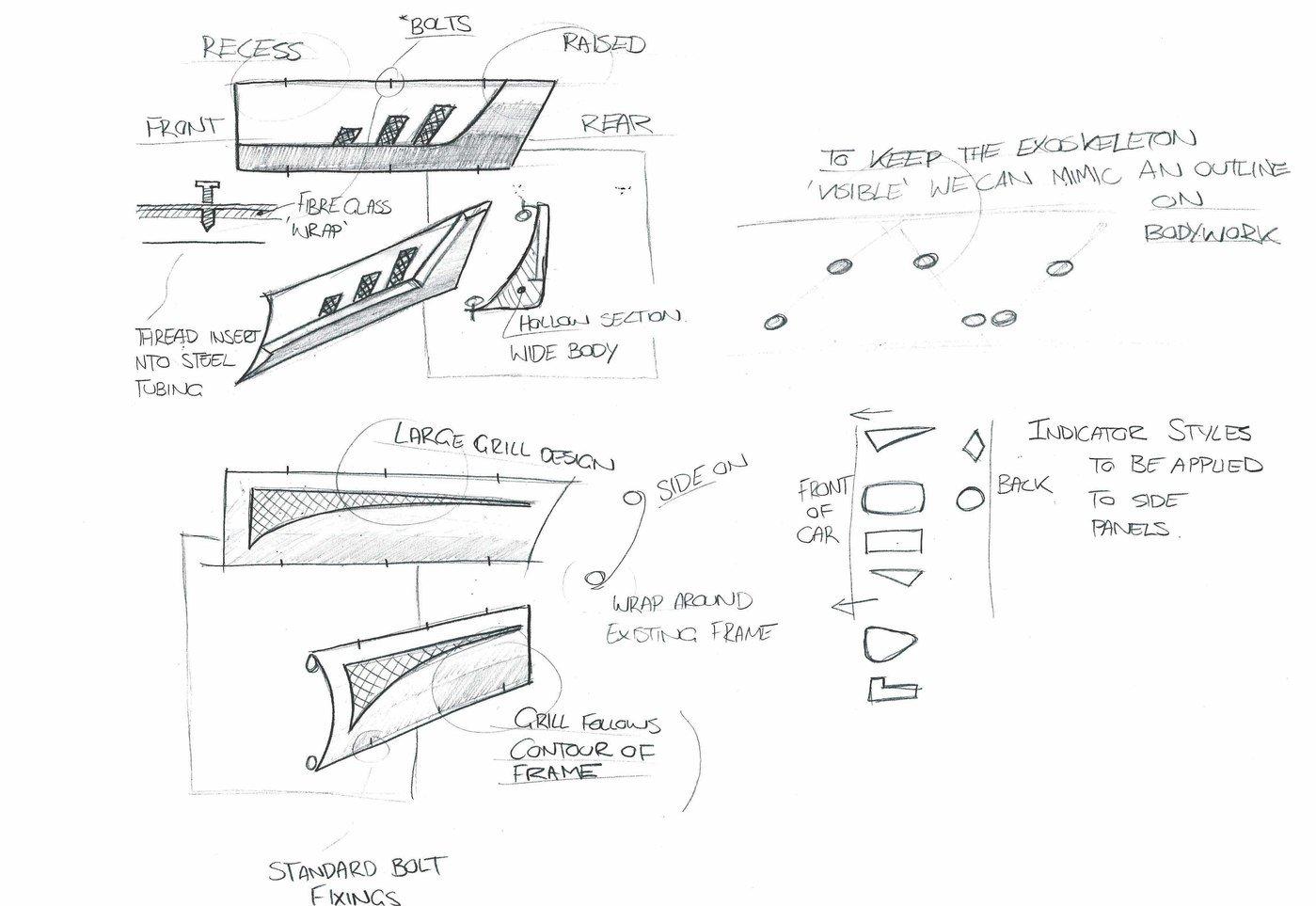 Rocket kit car side panel design by Justin Flack at