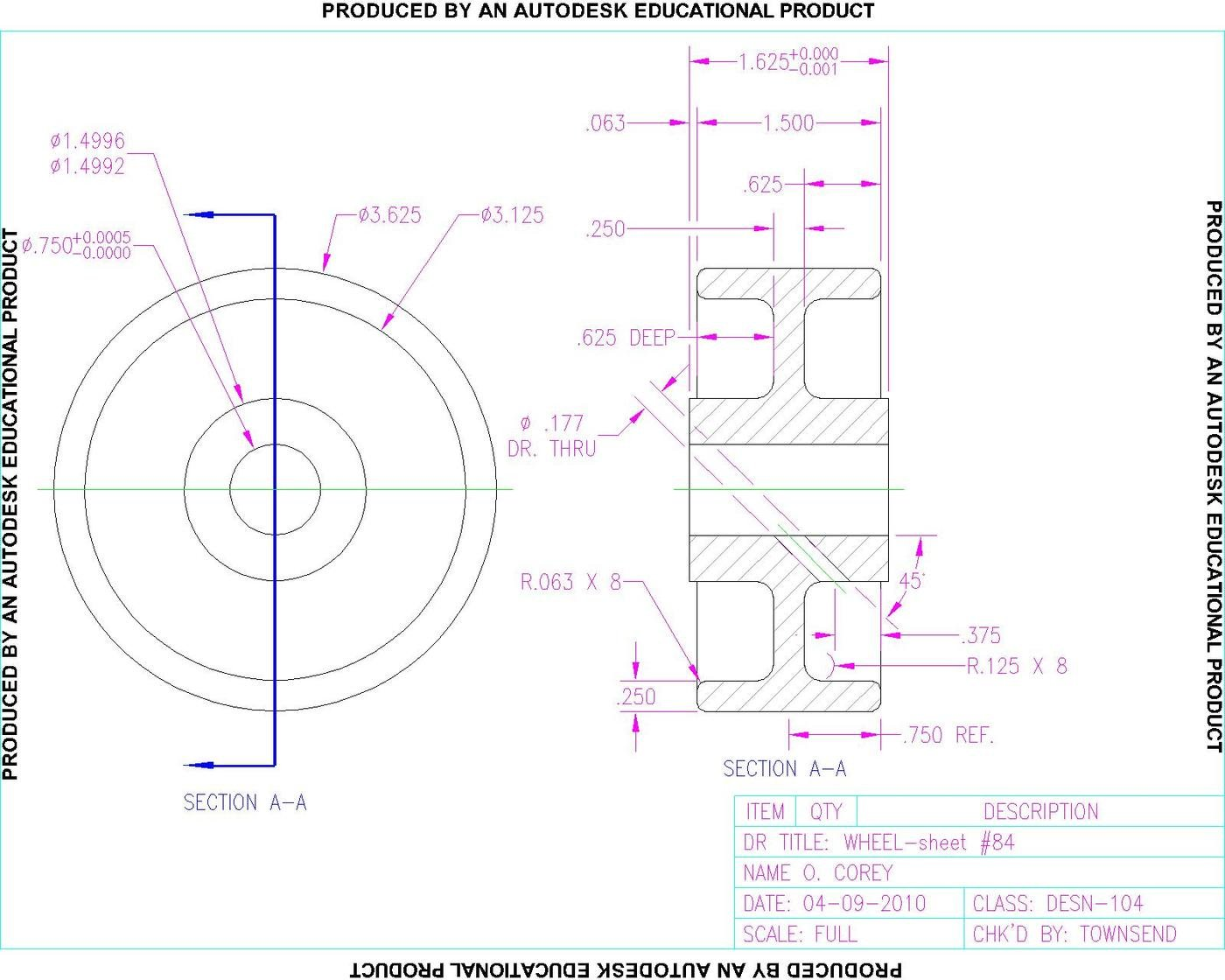 AutoCAD 2D Drawings and Renderings by O. Corey at Coroflot.com