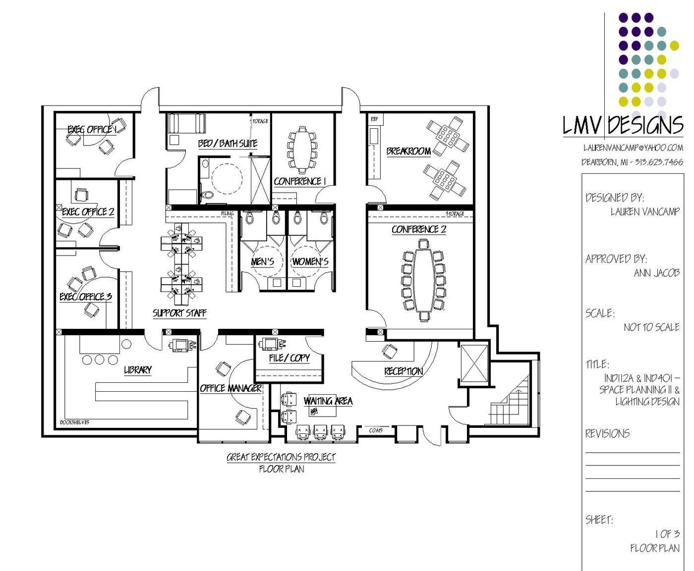 An Energetic Office Space by Lauren VanCamp at Coroflot.com