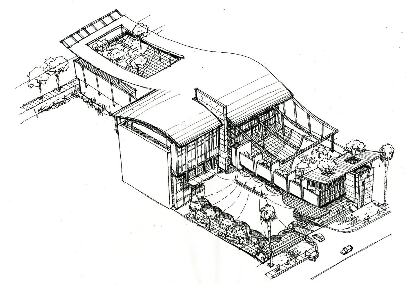 Architectural sketches by MOHD SUHAIMI JAAFAR at Coroflot.com